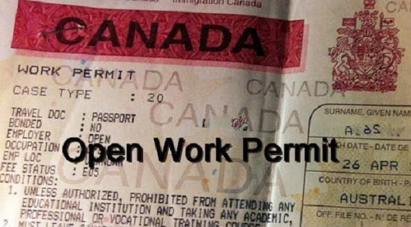 Open work permit Canada là gì