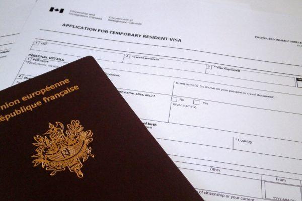 các mẫu đơn xin visa canada